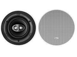 kef ceiling speakers. kef ci160crds round dual stereo in-ceiling speaker \u2013 single white kef ceiling speakers