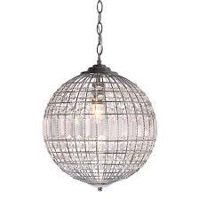 sentinel small pendant ceiling light glass crystals ball 32cm debenhams isabella