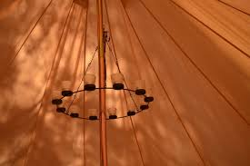 belltent tent chandelier lighting camplight