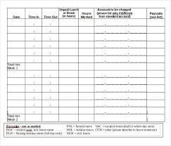 Bi Weekly Time Sheet 18 Bi Weekly Timesheet Templates Free Sample Example Format