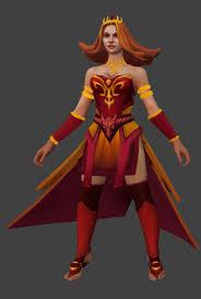 dota2 lina the fiery princess polycount