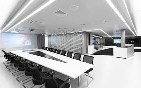 futuristic office furniture. interior designsincredible office meeting room with luxury furniture and contemporary white table complete black chair futuristic c