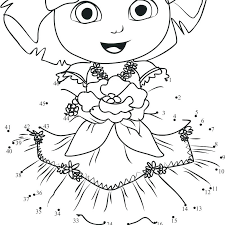 Dora The Explorer Christmas Coloring Pages At Getdrawingscom Free