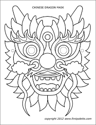 How are chinese new year animals determined? Chinese Dragon Mask Templates Free Printable Templates Coloring Pages Firstpalette Com