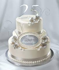 25th Wedding Anniversary Cakes Ideas Veedels