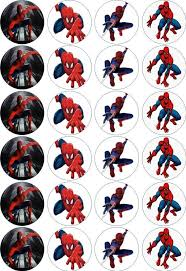 24 X 45cm Spiderman Edible Ricewafer Paper Cupcake Toppers Ebay
