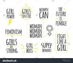 Woman Power Quotes Collection Girl Power Stock Vector Royalty Free