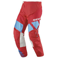 scott 350 race pant red blue offroad pants officially authorized usa