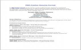 Cover Letter For Mba Marketing Fresher Beautiful Resume Sample For