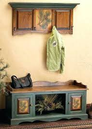 Bench And Coat Rack Set Storage Bench And Coat Rack Set Entryway Bench And Shelf Set With 6