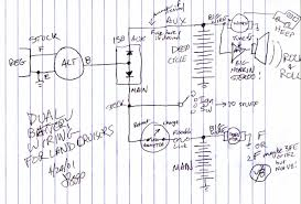 jeff s tech tips a hand drawn diagram of the wiring of the dual battery setup i had in my 76 fj40 for many years sized for printing on your printer
