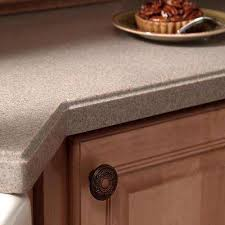solid surface countertop sample in sandstone