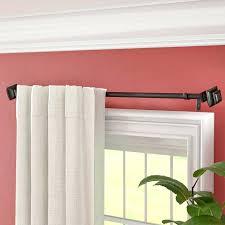 square corner shower curtain rod three posts core telescoping dry set