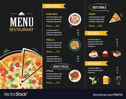 Restaurant Menu Template Restaurant Cafe Menu Template Flat Design