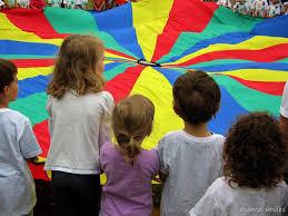 outdoor activities for preschoolers. Parachute Goodbye Song At Preschool Game Day Outdoor Activities For Preschoolers A