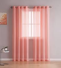 Sheer Curtains Bedroom Grommet Sheer Curtains 2 Pieces Beautiful Elegant Natural