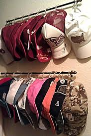 Baseball Cap Organization DIY...wonder if I could use this idea for fitted