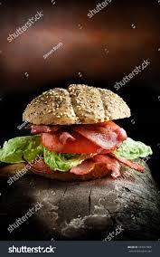 Blt Lighting Bacon Lettuce Tomato Meal Ultimate Blt Stock Photo Edit Now