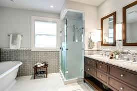 tile framed mirror frosted glass tile bathroom traditional with double vanity framed mirrors image by j tile framed mirror