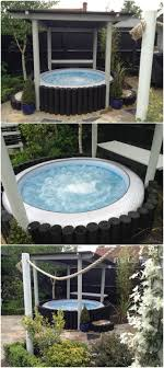 Inflatable hot tub surround idea for Lay z spa