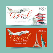 travel voucher template free tourism voucher template design with landmark of japan