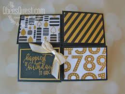 Quarter Cards Quarter Fold Card Tutorial Fancy Folds 1 Qbees Quest