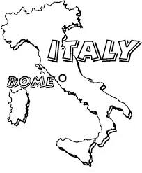 Map Of Italy Rome Is The Capital Of Italy Coloring Page From Italy