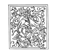 Animaux Coloriage Enluminure Enluminure Coloriage Lettres Alphabet