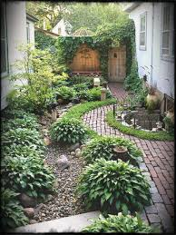 simple landscaping ideas. Narrow Side Yard House Design With Simple Landscaping Ideas And Garden No Grass Trees Herb Plants