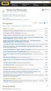 Imdb Resume RESUME IMDB Nara R Video Editor 1
