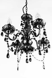 a2s gypsy crystal chandelier small black 4 arm h18 w15 acrylic crystals solid iron design boho chic style