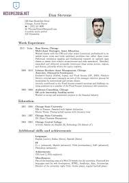 latest format of resume