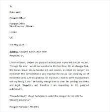 Passport Authorization Letter Mesmerizing Authorization Letter To Lodge And Collect Passport Template For
