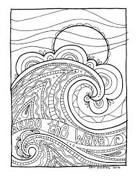 Kpm Doodles Coloring Page Wave Coloring Pages Doodle Coloring