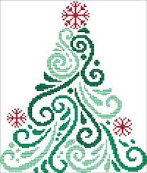 Christmas Tree Cross Stitch Chart Art Deco Tree 1
