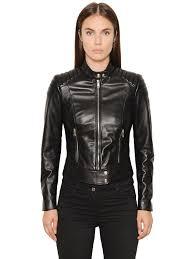 belstaff dyed nappa leather moto jacket black women clothing belstaff nyc usa