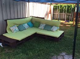 diy outdoor pallet sectional. My DIY Outdoor Pallet Sectional. #pallet #furniture #diy #outdoor #patio Diy Sectional F