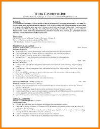 10 Pharmacist Resume Sample Self Introduce