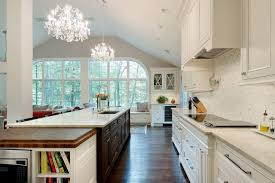 sweet traditional sloped ceiling kitchen is kitchen island and beige countertop with cathedral ceiling cookbook storage kitchen collection of recessed