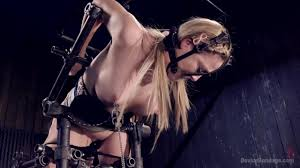 Hot Blonde in Brutal Device Bondage pornado.co