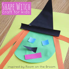 Witch Shape Craft {Inspired by Room on the Broom} | Shape crafts ...