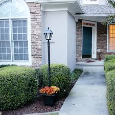 Baytown Ii Solar Lamp Post With Ez Anchor And Planter Base Gs