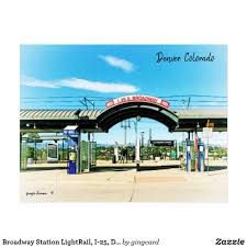 I 25 And Broadway Light Rail Station Broadway Station Lightrail I 25 Denver Co Postcard