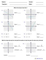 writing equations of lines worksheet answers tessshlo