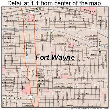 fort wayne indiana street map 1825000 Ft Wayne Indiana Map fort wayne, indiana road map detail fort wayne indiana map