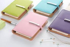 Cute Spiral Notebook Fine Leather Agenda Planner Organizer