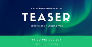 Coming Soon Template Landing Page Stomp Cinematic Intro