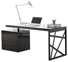 contemporary dark wood office desk.  Desk Contemporary Black Office Desk In J M Furniture KD01 Modern Plan 12 On Dark Wood F