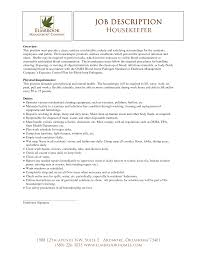Resume For Hotel Housekeeping Job Free Resume Example And