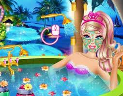 game barbie superhero beauty spa